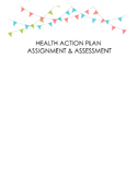 Health Action Plan Assignment