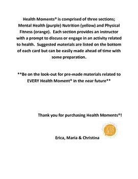 Health Activity Cards