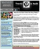Trends in Health Newsletter Vol. 1: A FREE Report on Drugs Molly and Bath Salts