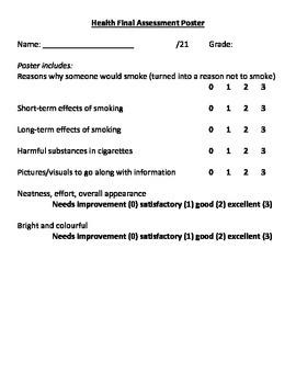 Health: Anti-Smoking Poster Task