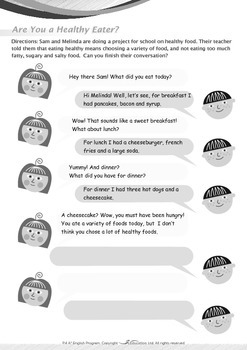 Health - Are You a Healthy Eater? - Grade 4