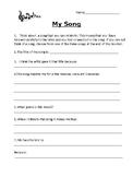 Grade 4, 5, 6 Health Assignments (Feelings & Songs)