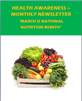 """Health Awareness Monthly Newsletter for March- """"National N"""