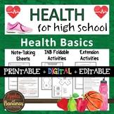Health Basics - Interactive Note-Taking Materials