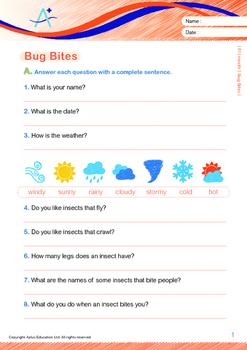 Health - Bug Bites - Grade 1