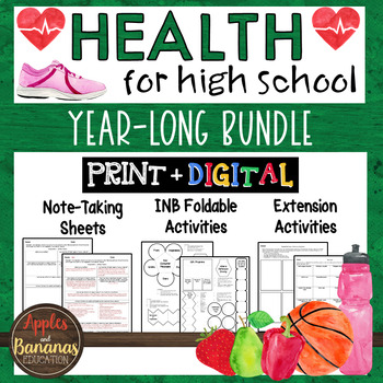 Health Bundle - High School Interactive Notes and Activities