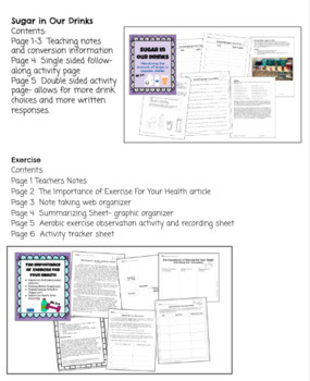 Health Bundle Reading & Activities -Food Plate, Nutrition, Fire Safety, Sleep