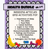 Health BUNDLE Reading & Activities -Nutrition, Safety, Sleep, Diseases, Exercise