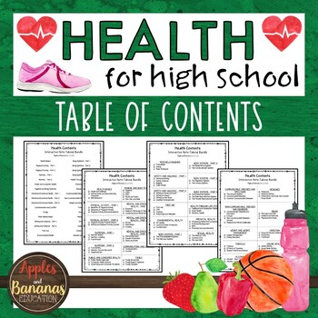 Health Bundle - Table of Contents