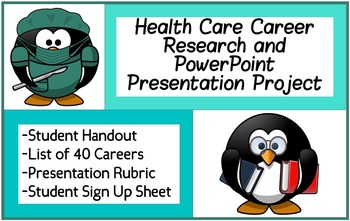 health care career research powerpoint presentation project w rubric signup
