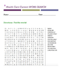 Health Care Careers WORD SEARCH