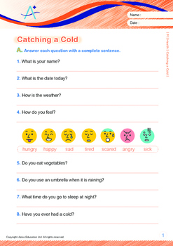 Health - Catching a Cold - Grade 1