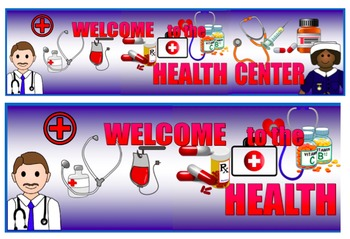Health Center Banner, Health Center Signage, Health Center