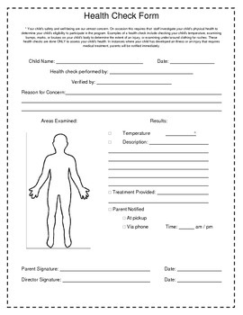 Health Check Form