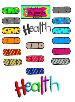 Health Clip Art Set for Personal or Commercial Use