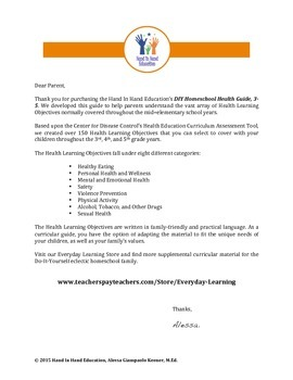 Health Curricular Guide Learning Objectives 3rd - 5th