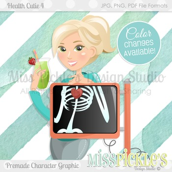 Health Cutie 4, Personal and Commercial Use Character Graphic