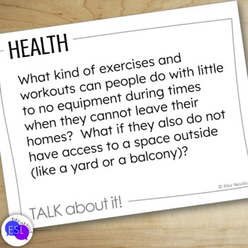 Health Themed Discussion Topics