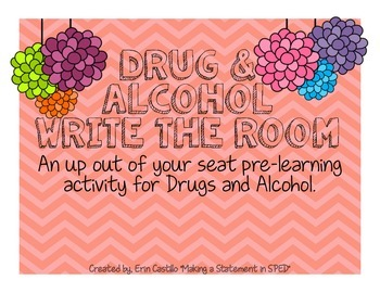Health: Drugs and Alcohol Write the Room