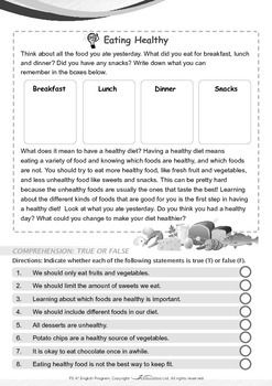 Health - Eating Healthy - Grade 3