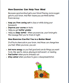 """Exercise is Cool in the Winter"" Lesson, Art Activity, writing prompt"