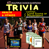 Health & Fitness Trivia Powerpoint/Card Game 45 Qs Distanc