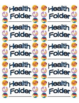 Health Folder Labels