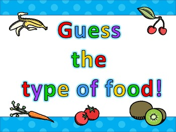 Health - Food Freebie - Guess the Food!