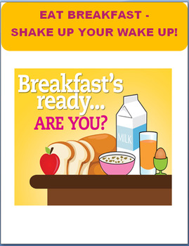 "Nutrition-""Get on the Breakfast Bus-2 activities and writing prompt"