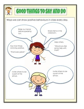 Health - Healthy Living -Conflict Resolution, Say Good Things, Be Positive PDF