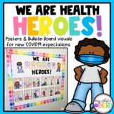 Covid 19 Safety Posters // Health Heroes // Social Distance