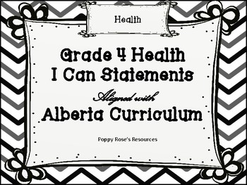 Health I Can Statements - Alberta