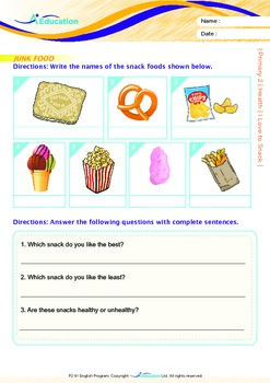 Health - I Love to Snack - Grade 2