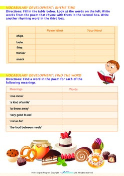 Health - I Love to Snack - Grade 2