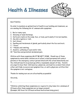 Health & Illness Note