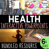 Health Interactive PowerPoint Bundle - Middle School Health - 6th Grade