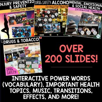 Health Interactive PowerPoint Bundle - Middle School Health - 6th Grade