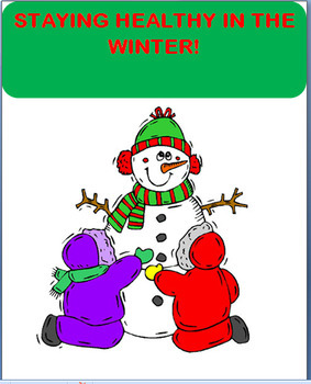 """Winter Health """"Staying Healthy This Winter"""" lesson, art, writing prompt"""