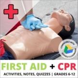 CPR Unit & First Aid Unit: BUNDLE! Activities, Notes & Assessments-Health / PE