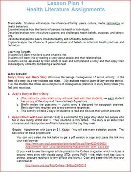 Health Literature Lesson 1 -- Ben and Judy's Stories