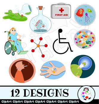 Health & Medical Clip Art Set