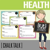 Health, Nutrition and Fitness Science Task Cards - Chalk T