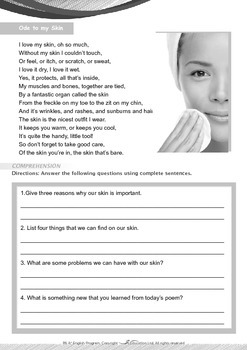 Health - Ode to my Skin - Grade 6