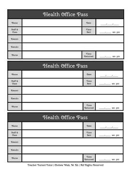 Health Office Pass