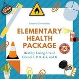 Health - Ontario Healthy Living Elementary Bundle - Grades 1, 2, 3, 4, 5, and 6