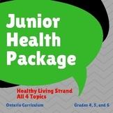 Health - Ontario Healthy Living Junior Bundle - Grades 4, 5, and 6
