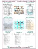 Health & Personal Hygiene 4 Worksheet-2 Game-1 Exam Bundle