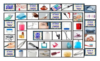 Health and Personal Hygiene Legal Size Photo Board Game