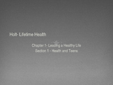 "Health Powerpoint- Holt-""Lifetime Health"""