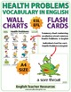 Health Problems English Vocabulary - ESL Wall Charts - Flash Cards